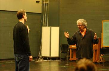 Actor and UB alum, Peter Reigert '68 at an acting workshop in '02